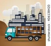 truck graphic design   editable ... | Shutterstock .eps vector #406138420