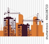 icon of under construction... | Shutterstock .eps vector #406138723