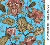 vintage seamless pattern.... | Shutterstock .eps vector #406150729