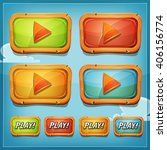 play buttons and icons for game ... | Shutterstock .eps vector #406156774