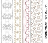 Set Of Rich Lace Borders With...
