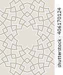 arabesque lines pattern with... | Shutterstock .eps vector #406170124