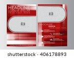 abstract flyer design... | Shutterstock .eps vector #406178893