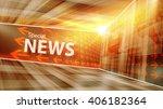 special breaking news studio... | Shutterstock . vector #406182364