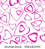 seamless pattern of pink hearts ... | Shutterstock .eps vector #406182454