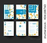 dna molecule vector brochure... | Shutterstock .eps vector #406188760