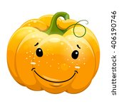 cartoon fun smile pumpkin... | Shutterstock .eps vector #406190746