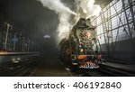 steam locomotive at the kiev... | Shutterstock . vector #406192840