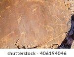 rock carvings in twyfelfontein...