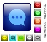 set of color typing chat glass...