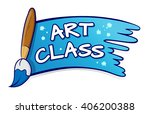 vector stock of art class sign... | Shutterstock .eps vector #406200388