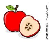 vector stock of sliced apple... | Shutterstock .eps vector #406200394