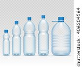 plastic bottles set | Shutterstock .eps vector #406204564