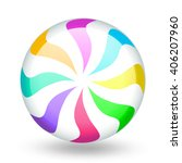 funny colorful candy lollipop... | Shutterstock .eps vector #406207960