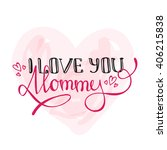 vector mothers day design... | Shutterstock .eps vector #406215838