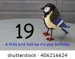 Small photo of 19th birthday - a little bird told me