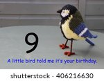 Small photo of 9th birthday - a little bird told me