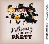 poster design for halloween... | Shutterstock . vector #406218928