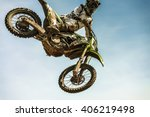 motocross rider in the air