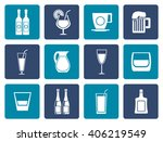 flat different kind of drink... | Shutterstock .eps vector #406219549