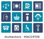 flat roadside  hotel and motel... | Shutterstock .eps vector #406219558