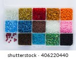 multi colored beads in a... | Shutterstock . vector #406220440