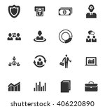 business icons set and symbols...   Shutterstock .eps vector #406220890