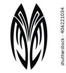 tribal tattoo art | Shutterstock .eps vector #406221034