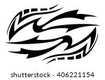 tribal tattoo art | Shutterstock .eps vector #406221154
