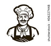 restaurant  cafe vector logo.... | Shutterstock .eps vector #406227448