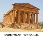 view of the temple of concordia | Shutterstock . vector #406228036