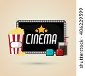 cinema graphic design  vector... | Shutterstock .eps vector #406229599