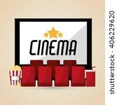 cinema graphic design  vector... | Shutterstock .eps vector #406229620