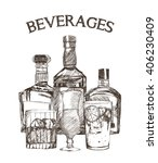 graphic of sketch beverages  ... | Shutterstock .eps vector #406230409