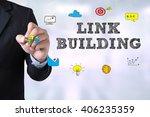 link building businessman... | Shutterstock . vector #406235359