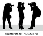 vector image of young... | Shutterstock .eps vector #40623670