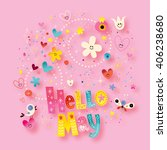 hello may | Shutterstock . vector #406238680