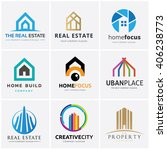 Stock vector real estate and building logo collection 406238773