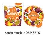 mango passion fruit yogurt... | Shutterstock .eps vector #406245616
