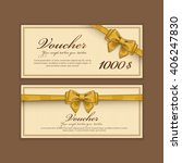gift voucher template.... | Shutterstock .eps vector #406247830