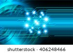 blue abstract hi speed internet ... | Shutterstock . vector #406248466