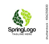 spring logo template | Shutterstock .eps vector #406250830