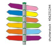 colored pointer arrows on the... | Shutterstock . vector #406251244