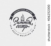 summer camp badge  sticker ... | Shutterstock .eps vector #406252300