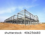 steel frame structure   Shutterstock . vector #406256683