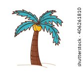 Tree Illustration. Coconut Tree.