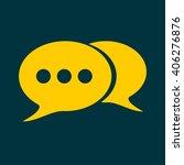 speech bubbles icon | Shutterstock .eps vector #406276876