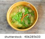 northern thai spicy soup with... | Shutterstock . vector #406285633