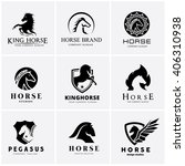 Stock vector horse logo collection horse logo set logo set animal logo set vector logo template 406310938