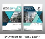 blue annual report brochure... | Shutterstock .eps vector #406313044